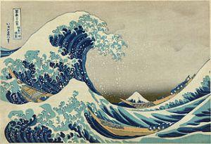 """Great Wave Off Kanagawa"" by Katsushika Hokusai. Image in public domain."