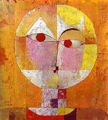 Senecio (Head of a man) by Paul Klee (1922). Image public domain in Australia, Europe, and in US under PD-1923